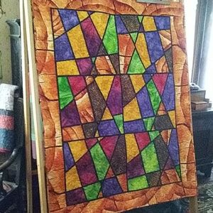 Other - Throw Quilt Colorful Batiks 44 x 57